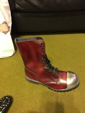 Underground Skinhead Boots Size 8 14 Lace Hole Steel Toe Cap Dx9