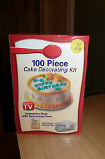 100 PIECE CAKE DECORATING KIT - NEW IN BOX - COST £15 - SILLY CHEAP LOOK!