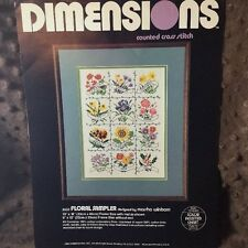 Dimensions Floral Sampler Counted Cross Stitch Kit 3532 Winborn 9x12 Flowers GC