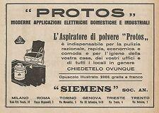 Z0537 Aspiratore di polvere PROTOS - Pubblicità del 1927 - Advertising