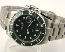 Parnis 40mm Ceramic Bezel sapphire glass Miyota automatic mens watch 1005