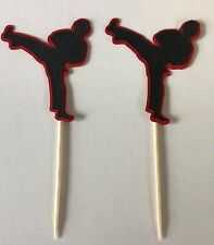 Karate or Ninja cupcake toppers.Set of 24. Great for Birthday Parties