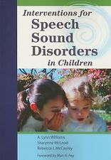 Cli: Interventions for Speech Sound Disorders in Children Communication and Lang