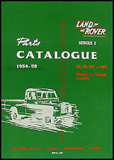 Land Rover Parts Book 1954 1955 1956 1957 1958 Series I Part Catalog Catalogue