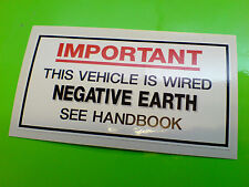 NEGATIVE EARTH Classic Retro Car Sticker Decal 1 off 95mm