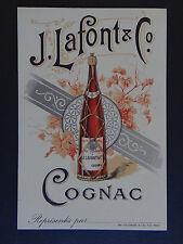 Carte de visite 1900 COGNAC J. LAFONT & Co Prix Courant old visit card