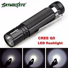 7W CREE Q5 LED 1200lm Mini Flashlight Torch Light 1ff500/AA Lamp Waterproof HOT2