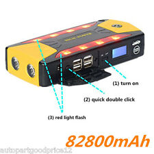 82800mAh 4USB Charger Vehicles 12V Car Jump Starter Booster Battery Power Bank