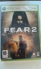 * XBOX 360 NEW SEALED GAME * FEAR 2 * F.E.A.R. * PROJECT ORIGIN