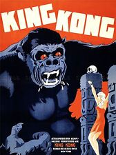 ADVERTISING MOVIE FILM HORROR KING KONG DANISH RELEASE ART POSTER PRINT LV1038