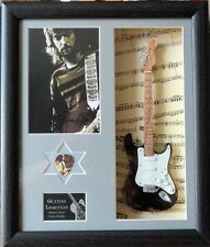 Eric Clapton Framed Miniature Tribute Guitar with Plectrum
