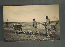 1928 China paqueboat Real Picture Postcard Cover to USA Pesant Farmers Plowing
