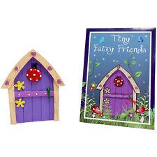 FAIRY / PIXIE / ELF  DOOR PURPLE WITH LADYBIRD DESIGN RESIN ORNAMENT FANTASY
