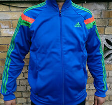 New Mens Original ADIDAS Blue Climalite Jacket TRACKSUIT top UK size XL