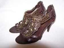 Ann Marino Women's Strappy Sandals Brown/Bronze Sz 6 M Excellent Preowned