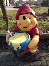 Extremely Rare! Lifesize Disney Winnie the Pooh Cooking Honey Polyester Statue