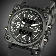 INFANTRY Mens Digital Quartz Wrist Watch Alarm Chronograph Army Sport Rubber USA