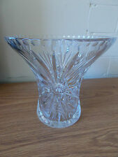 Vintage Antique Collectable Retro Bohemia Crystal Vase Star Flower Design