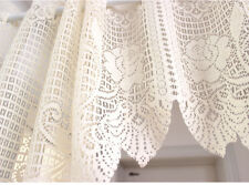 Vintage Style Lovely One Piece Rose Filet Lace Beige Color Curtain Swag