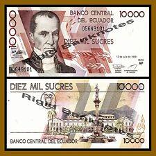 Ecuador 10000 Sucres, 1999 P-127(?) Unc