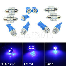 11PCS LED Xenon Lights Interior For T10 & 31mm Map Dome + License Plate Blue