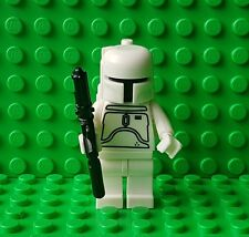 Boba Fett (White) Minifigure - Star Wars/The Force Awakens - Fits Lego