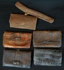 Antique Japanese Kiseru pipe tobacco pouch 1800's Japan craft