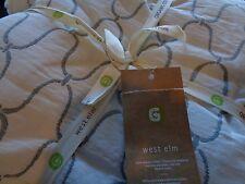 West Elm Bristol Matelasse full queen duvet  + 2 standard  shams New