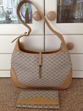 FANTASTIC LUIGI BEIGE & TAN SHOULDER BAG MATCHING PURSE USED GOOD CONDITION