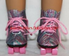Roller Skates Rainbow Sparkle Doll Clothes Made For 18 inch American Girl Dolls