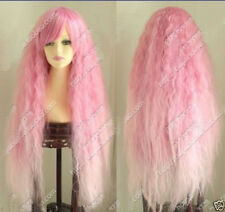 Hot Sell! Popular Lolita New Cosplay Long Curly Pink mix Cosplay wig