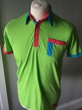 Guide London Bright Green Designer Summer Polo Shirt M