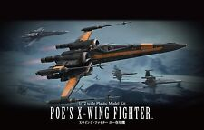 Star Wars Poe's X-Wing Fighter 1/72 scale model kit Bandai U.S. seller