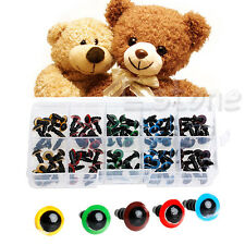 Hot 100Pc 8mm 5 Colors Plastic Safety Eyes Washer For Teddy Bear Doll Toy Puppet