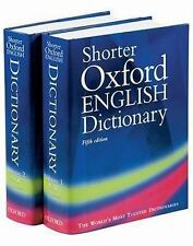 The Shorter Oxford English Dictionary : On Historical Principles by William...