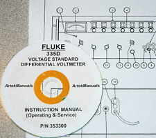 FLUKE 335D Voltage Standard & Differential Voltmeter: Manual (Ops+Service+Schem)