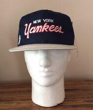 NWT VINTAGE NEW YORK YANKEES SNAPBACK HAT CAP SPORTS SPECIALTIES SCRIPT
