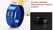 8MM Titanium 316L Stainless Steel Band Batman Ring Jewelry