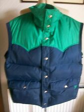 Canadian Down & Feather Sleeveless Padded Gilet/Bodywarmer, Large, BLUE GOOSE