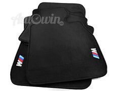 BMW 1 Serie E81 E82 Nero Tappetini Con /// M Logo Clips LHD laterale NUOVO