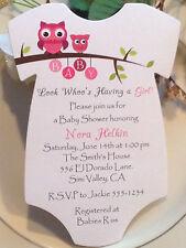 Owl Onesie Baby Shower Invitation - For Boy Or Girl!!!