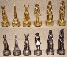 Chess Set Pieces pewter Ancient Egypt NIB