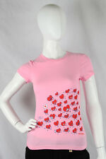 Paul Frank SMALL $29 Pink Heart Attack!! Julius & Friends Red Hearts War Tee NWT