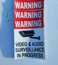 VIDEO SURVEILLANCE Security Decal  Sticker (if you are.3 pcs..) 3.75x3.25 in