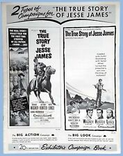 VINTAGE - THE TRUE STORY OF JESSE JAMES - ORIG. 20th CENT. FOX PRESSBOOK - 1957
