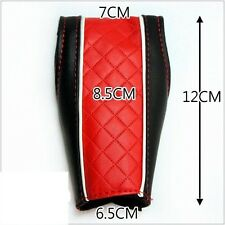 CAR AUTOMATIC TRANSMISSION SHIFT KNOB PROTECT COVER BLACK RED