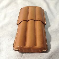 Tobacco Road Tan 3 finger Cigar Case - Made in USA W/ Genuine Italian Leather