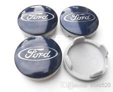 4x BLUE  FORD FITS MOST NEW MODELS 54MM ALLOY WHEEL CENTRE CAPS 55