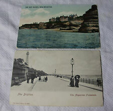 """K077 - 2 x Early NEW BRIGHTON """"The Red Noses"""" & """"Magazines Promenade"""" POSTCARD"""