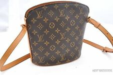 Authentic Louis Vuitton Monogram Drouot Shoulder Bag M51290 LV 28507